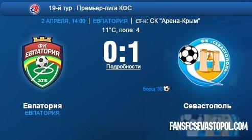 «Евпатория» 0-1 «СКЧФ Севастополь»