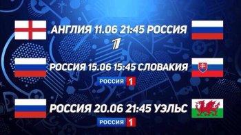 На каких телеканалах покажут матчи сборной России по футболу